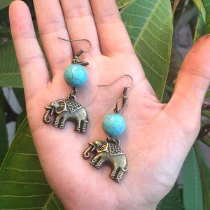 Magnesite Earrings 🐘